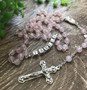 Personalised Rosary Beads - Rose Quartz