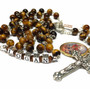 Tiger Eye Rosary with Medal (not included)
