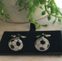 Men's Cufflinks - Black and White Soccer Balls
