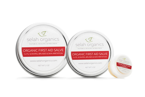 Organic First Aid Salve | Cuts, Scrapes, Bruises
