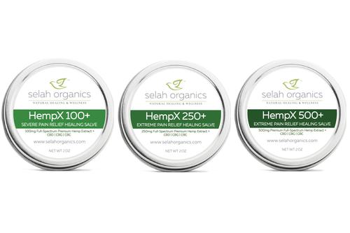 HempX+ Fast acting pain relief healing salves