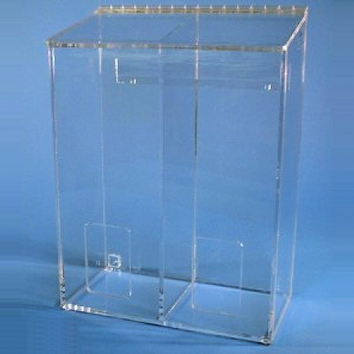 "12""W x 16""H x 6""D - Cleanroom 2-Compartment Dispenser"