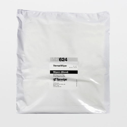 """Texwipe TX624 VersaWipe 4"""" x 4"""" Cellulose and Polyester Cleanroom Wiper"""