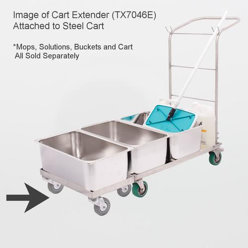 TX7046E AlphaMop Stainless Steel Cart Extender (Extender Part ONLY)