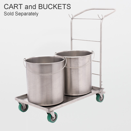 Texwipe TX7065 BetaMop Stainless Steel 8 gallon Bucket with Casters (BUCKET ONLY)