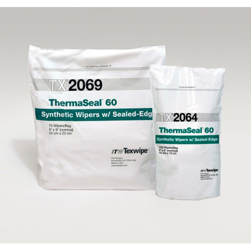 "Texwipe TX2069 ThermaSeal60 9"" x 9"" Polyester Cleanroom Wiper"