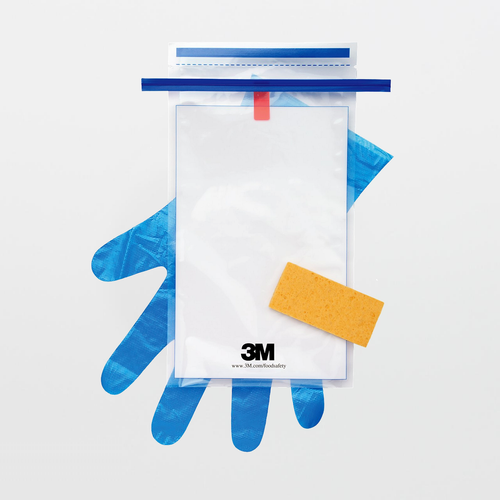 3M Hydrated-Sponge with 10 mL Letheen Broth and Gloves HS10LET2G