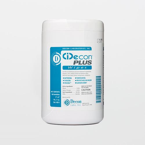 CiDecon Plus 8511 Pre-Saturated Disinfectant Wipes