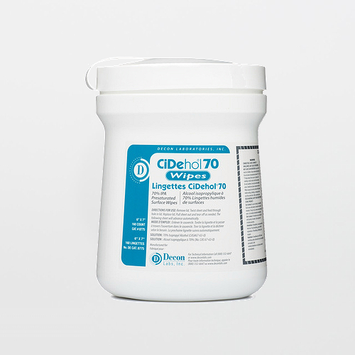 CiDehol 8775 Pre-Saturated 70% Isopropyl Alcohol Wipes