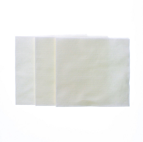 """12"""" x 13"""" White Crepe Cellulose/Polyester Spunlace Wipes"""