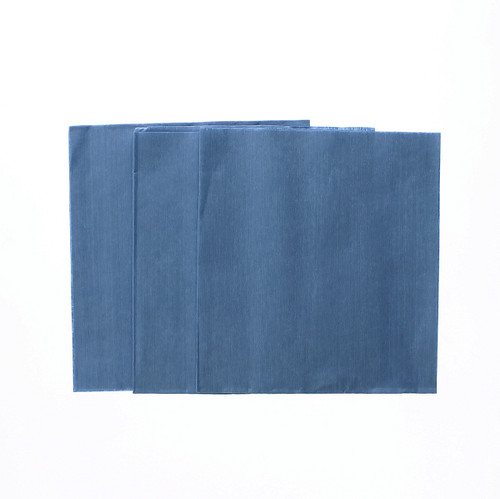 """12"""" x 13"""" Blue Smooth Cellulose/Polyester Spunlace Wipes"""