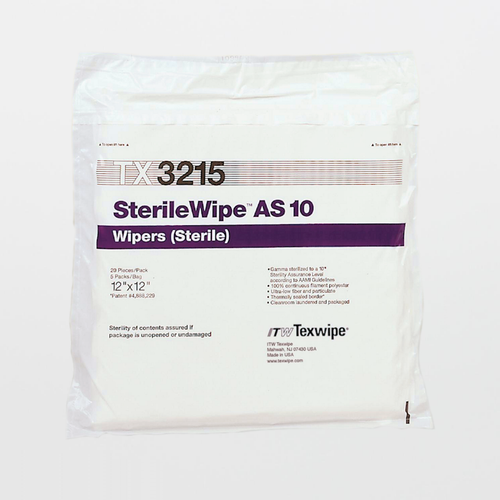 "TX3215 SterileWipe AS10 12"" x 12"" Polyester Cleanroom Wiper"