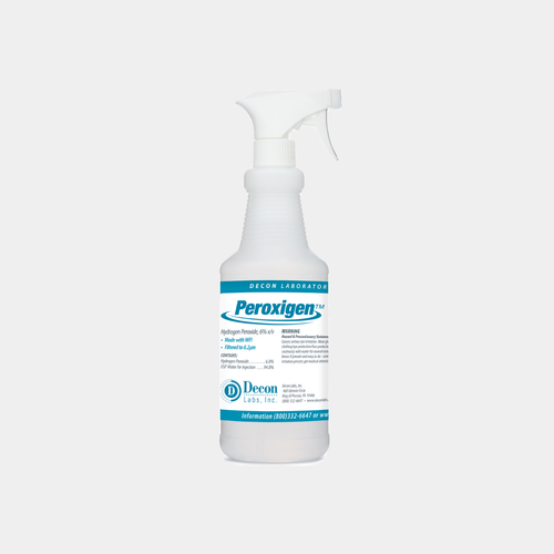Peroxigen 9816 is a ready-to-use 6% Hydrogen Peroxide solution (16 oz.) (9716)