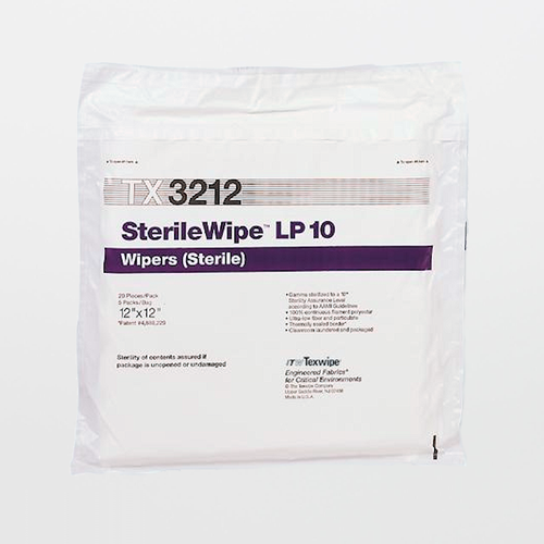 "TX3212 SterileWipe LP10 12"" x 12"" Polyester Cleanroom Wiper"