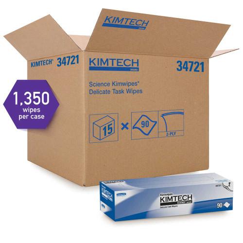Kimberly-Clark Kimtech Science Kimwipes Delicate Task Wipers