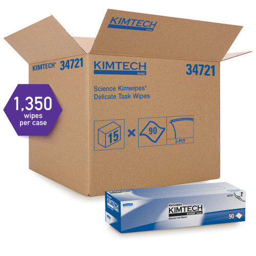 Kimberly-Clark Kimtech Science Kimwipes Delicate Task Wipers