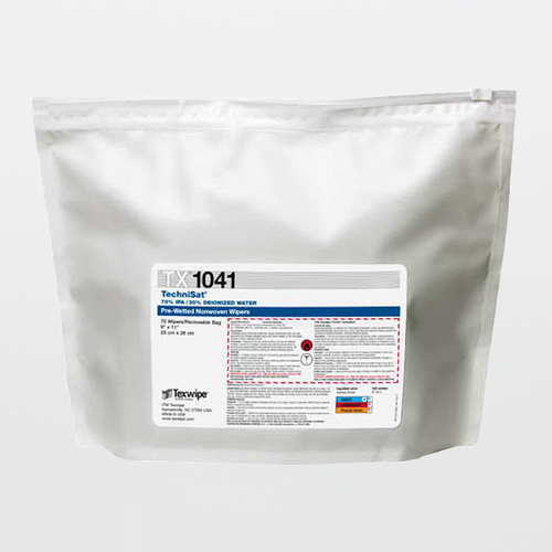 "TX1041 TechniSat 9"" x 11"" Cellulose/Polyester Cleanroom Wiper Pre-Wetted 70% IPA"