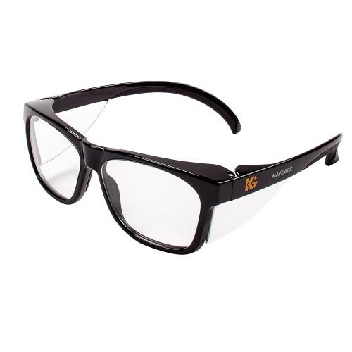 KleenGuard Maverick Black Safety Glasses (Clear Anti-Fog)