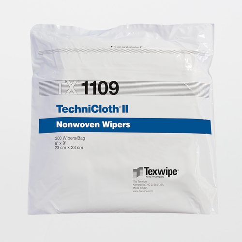 "TX1109 TechniClothII 9"" x 9"" Cellulose and Polyester Cleanroom Wiper"
