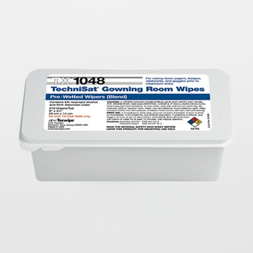 "TX1048 TechniSat 8"" x 5"" Cleanroom Gowning Room Wipe Pre-Wetted 6% IPA"