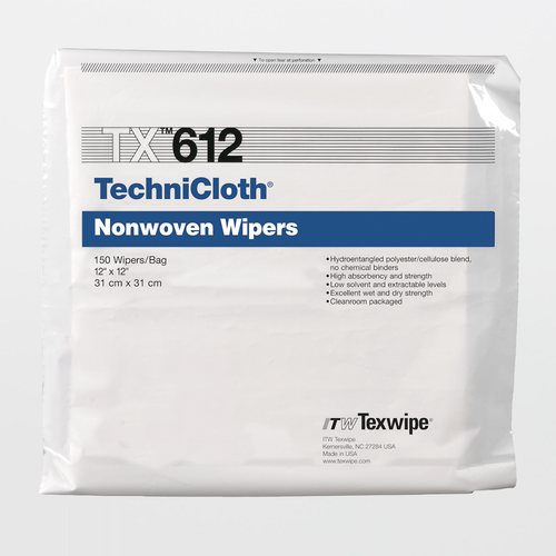 "TX612 TechniCloth 12"" x 12"" Cellulose and Polyester Cleanroom Wiper"