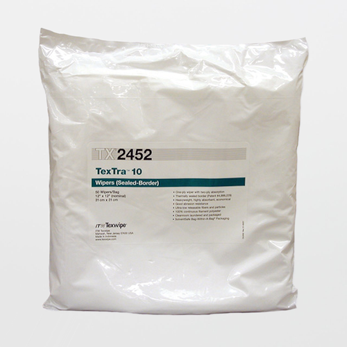 "TX2452 TexTra10 12"" X 12"" Polyester High Absorbency Cleanroom Wiper"