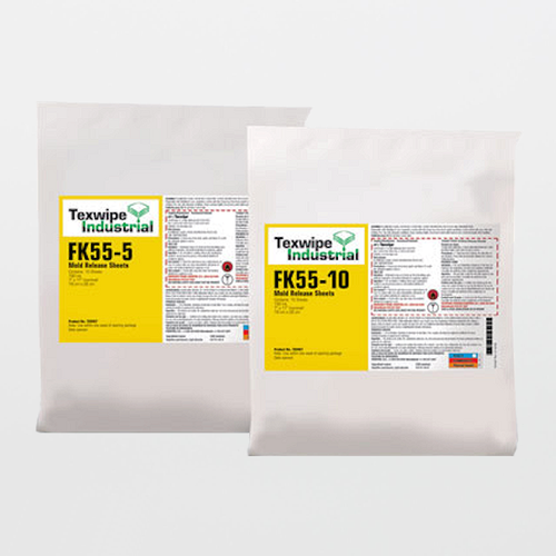 "TX9406 FK55-5 Mold Release Agent Sheets 7"" x 11"" Pre-Wetted Frekote 55-NC"