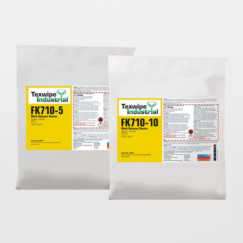 "TX9411 FK710-5 Mold Release Agent Sheets 7"" x 11"" Pre-Wetted Frekote 710-NC"