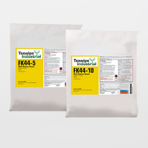 "TX9401 FK44-5 Mold Release Agent Sheets 7"" x 11"" Pre-Wetted Frekote 44-NC"