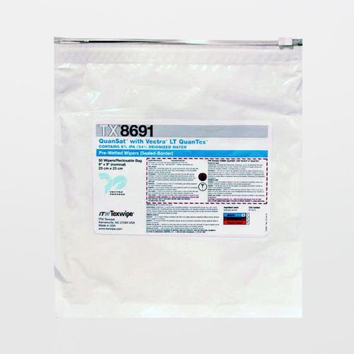 "TX8691 QuanSat w/ Vectra LT QuanTex 9"" x 9"" Polyester Wiper Pre-Wetted 6% IPA"