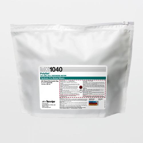 "TX1040 PolySat 7"" x 11"" Polypropylene Cleanroom Wiper Pre-Wetted 70% IPA"