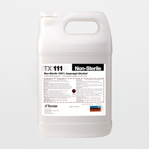 TX111 Non-Sterile 100% Isopropyl Alcohol Solution (1 Gallon)