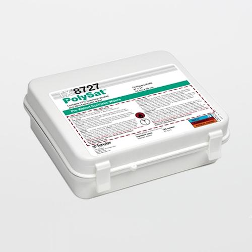 "TX8727 PolySat 6"" x 11"" Polypropylene Cleanroom Wiper Pre-Wetted 70% IPA"