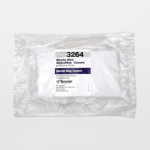 TX3264 Sterile AlphaMop Cleanroom Replacement Mop Covers (Refills)