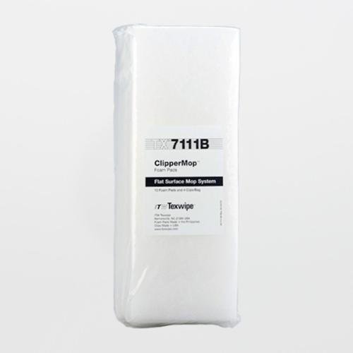 "TX7111B ClipperMop 11"" x 4"" Cleanroom Replacement Foam Pads (Refills)"