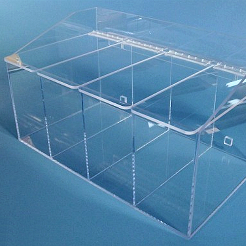 "20""W x 12""H x 11.5""D - Cleanroom 4-Compartment Dispenser (Separate Lids)"