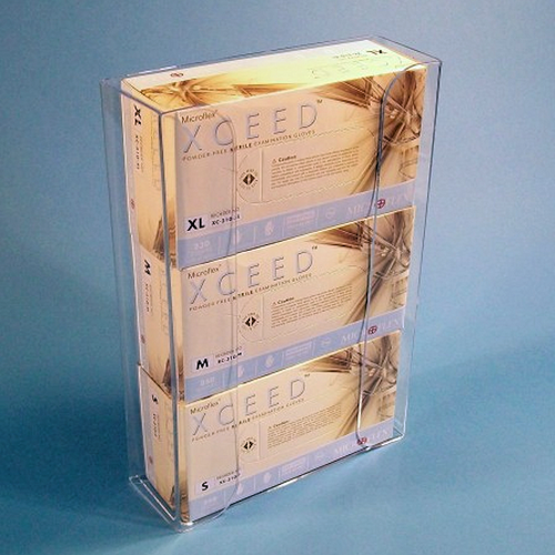 Cleanroom Exam Glove 3-Box Dispenser (Holds Boxes Horizontally)
