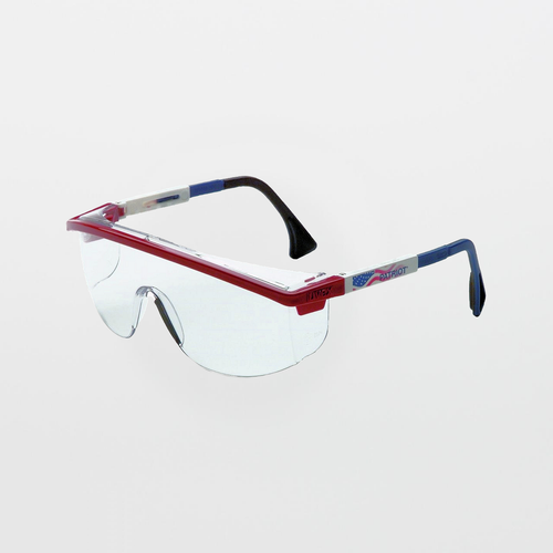 UVEX Astrospec 3000 Patriot RWB Clear Safety Glasses (Anti-Scratch)