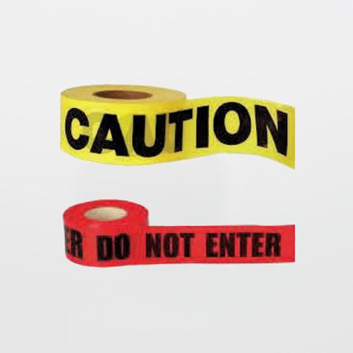 Cleanroom Barrier Tape (CAUTION or DANGER DO NOT ENTER)