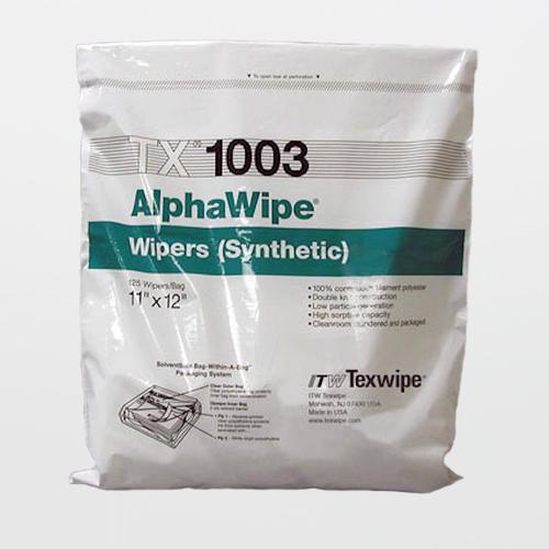 "Texwipe TX1003 AlphaWipe 11"" x 12"" Polyester Cleanroom Wiper"