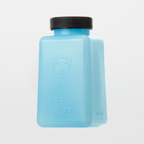 6 oz. ESD-Safe Square Bottle with Lid