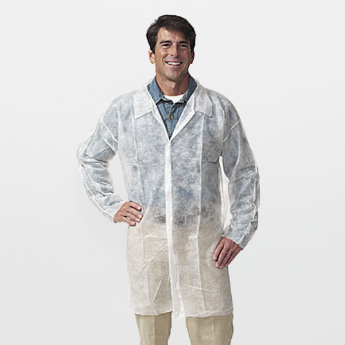 Polypropylene Lab Coat (NO Pockets)
