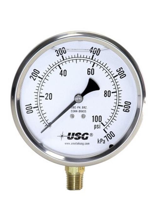 1555 Liquid Fillable Pressure Gauge, 0-100 PSI (165284)