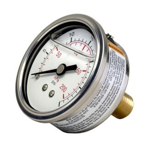 1559 Liquid Fillable Pressure Gauge, 0-300 PSI (165307)
