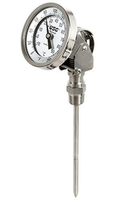 "Adjustable Bimetal Thermometer , 0-250°F/C,  1/2""NPT (415009)"
