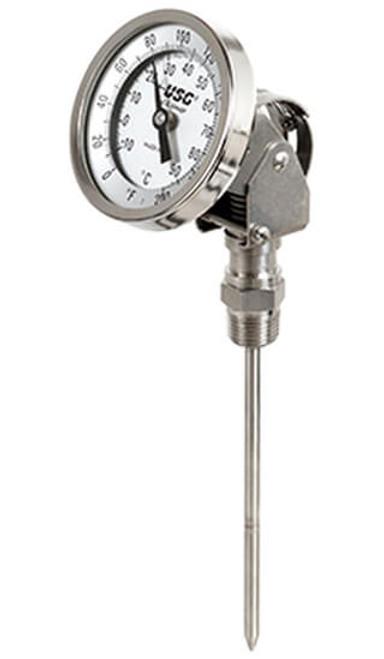 "Adjustable Bimetal Thermometer , 0-250°F/C,  1/2""NPT (415027)"