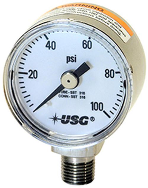 1521 Corrosion Resistant Pressure Gauge, 0 - 100 PSI (266281A)