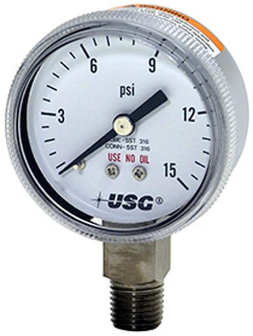 1522 Corrosion Resistant Pressure Gauge, 0 - 200 PSI (172038A)