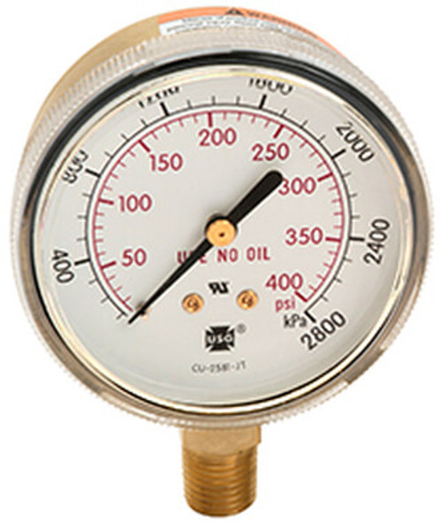 600 Compressed Gas/Welding Pressure Gauge, 0 - 60 PSI (165567A)