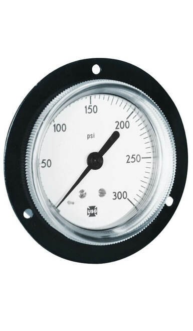 845FF Front Flange Gauge   0 - 400 PSI (164457)